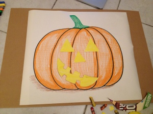 pumpkin with moveable eyes, nose and mouth