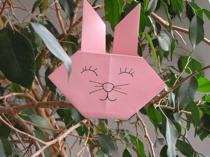 Bunny in a tree.