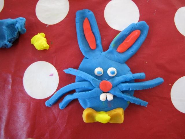 play dough bunny