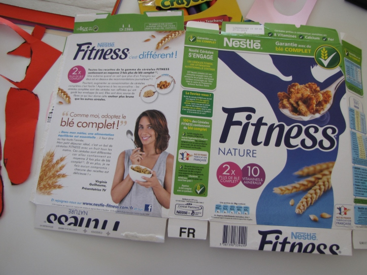 use a cereal box