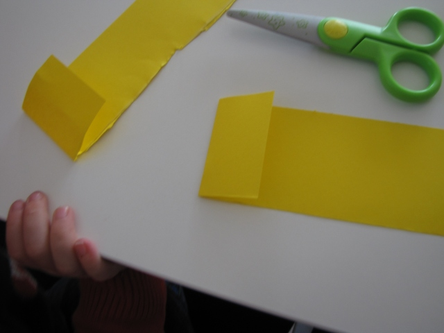 fold over a small part