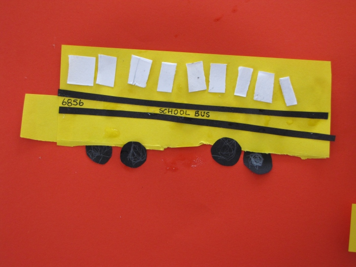 "give your bus a number and write ""school bus"" on it"