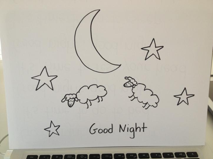 good night, count sheep