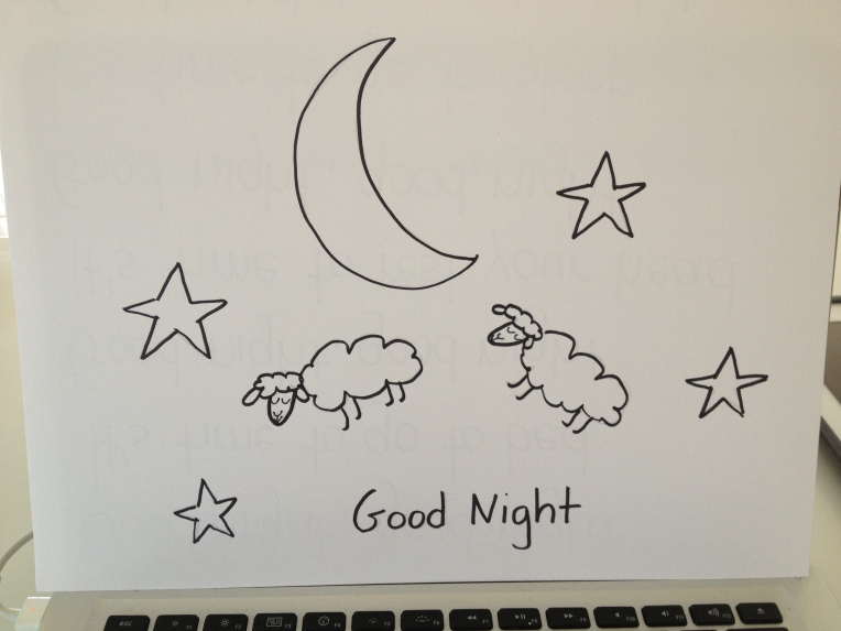good night, count sheep