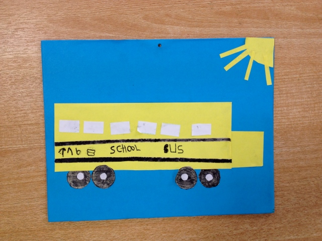 An American school bus, made by a student!