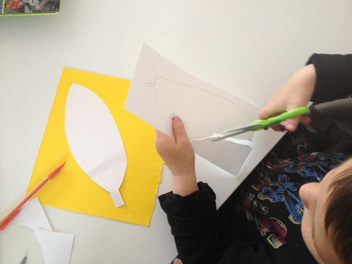 draw and cut out your feathers