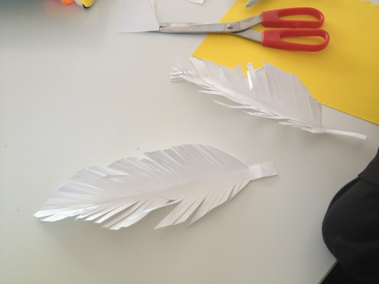 simple craft duck feathers for children