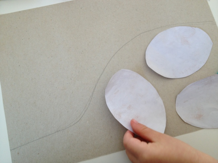 Trace out a dinosaur nest and check to make sure that your eggs fit inside.