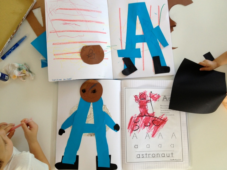 letter recognition and prewriting skills