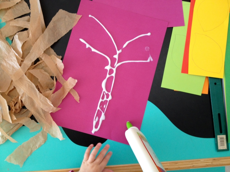 draw a tree with your tube of glue...
