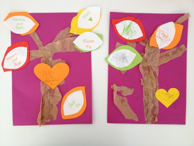 Thanksgiving Trees by Learn and Play en Anglais
