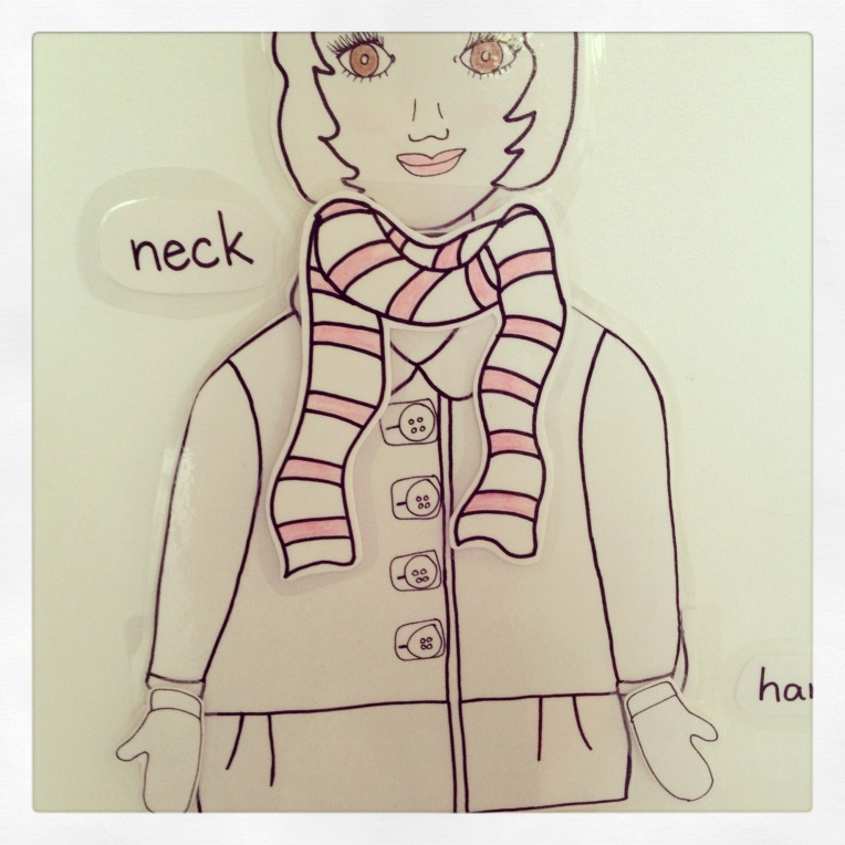Paper doll by Learn and Play en Anglais