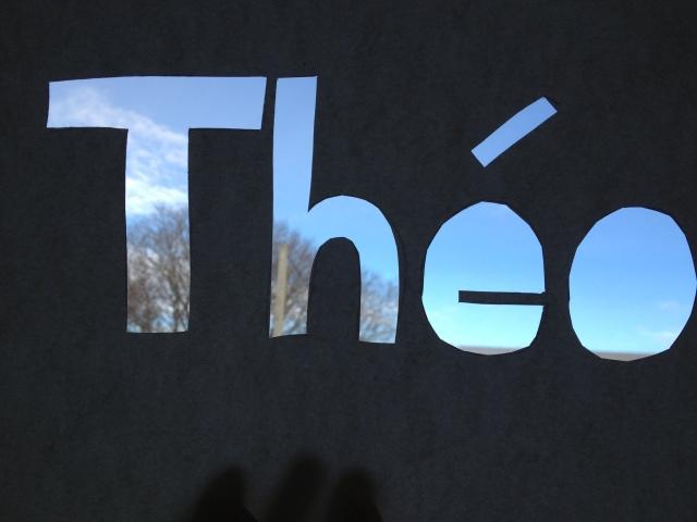 or...make a name stencil