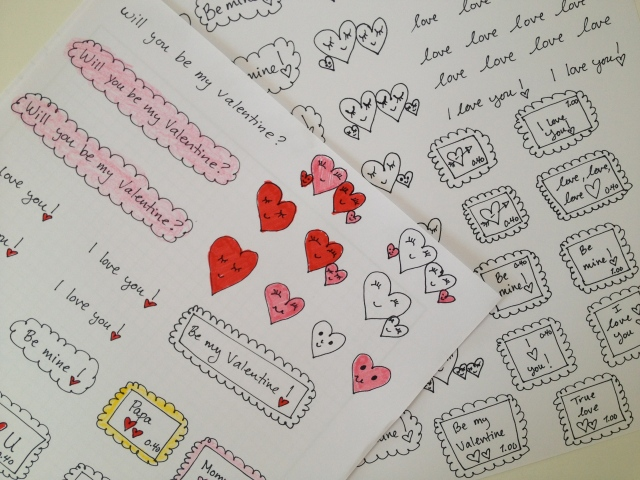 draw and then color in your own stickers