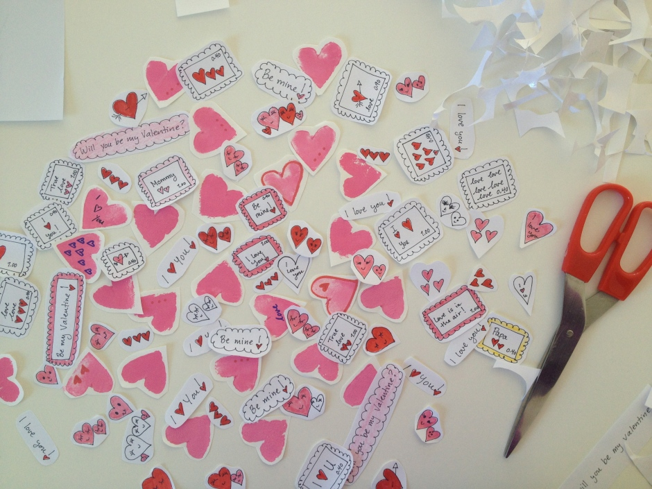 cutting out stickers