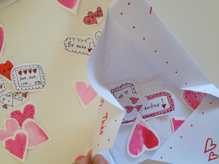 the envelope with some stickers inside