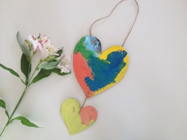 Add a short message or poem to the backs of the hearts to personalize them even more.