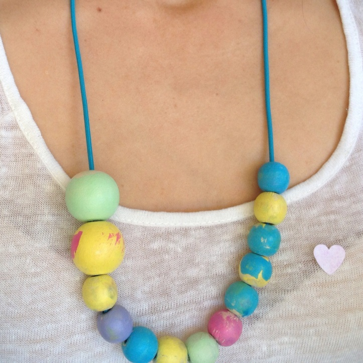 Here is our finished necklace!