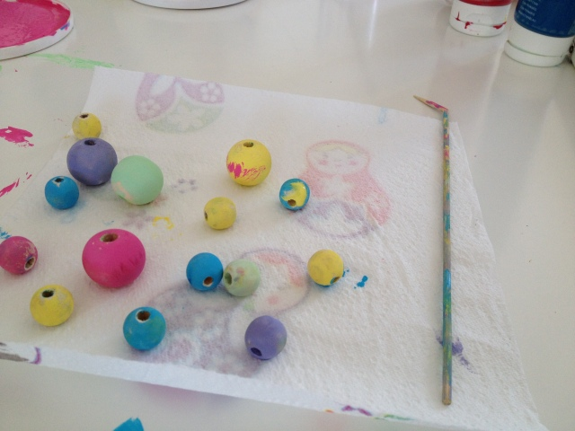 ...beads drying...