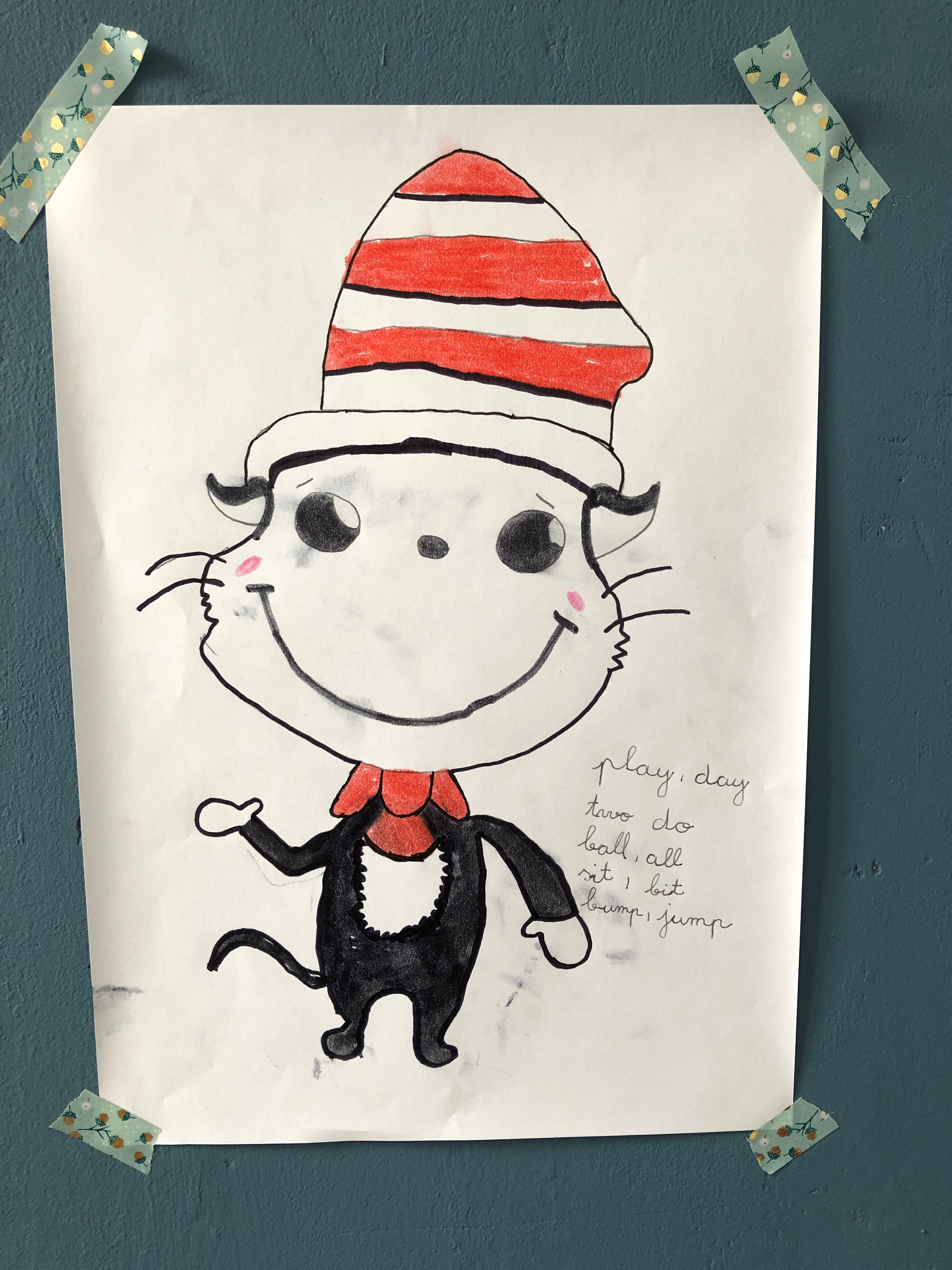 The Cat in the Hat, rhyming words